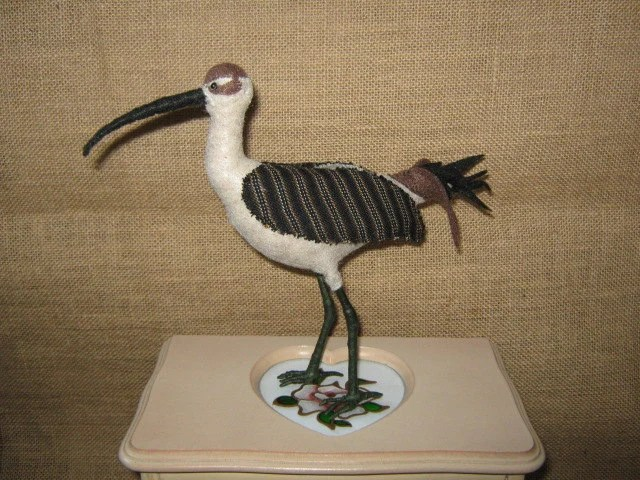 A Curlew - in fabric and felt