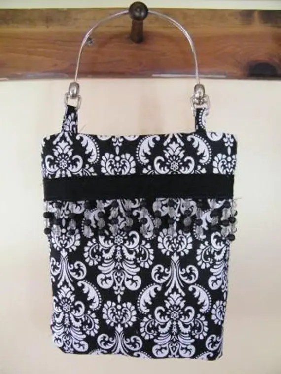 Damask Purse with Beading