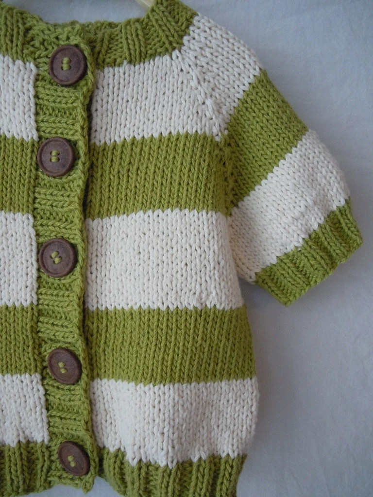 Striped Lime knitted cardigan from AWeeSprig