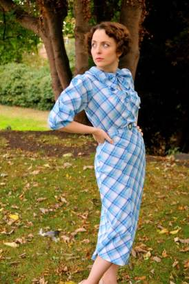 Jemima- Mid-1930s inspired plaid dress