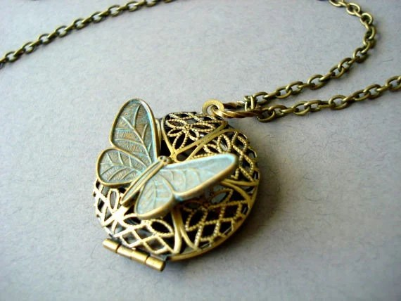 Vintage Butterfly Locket