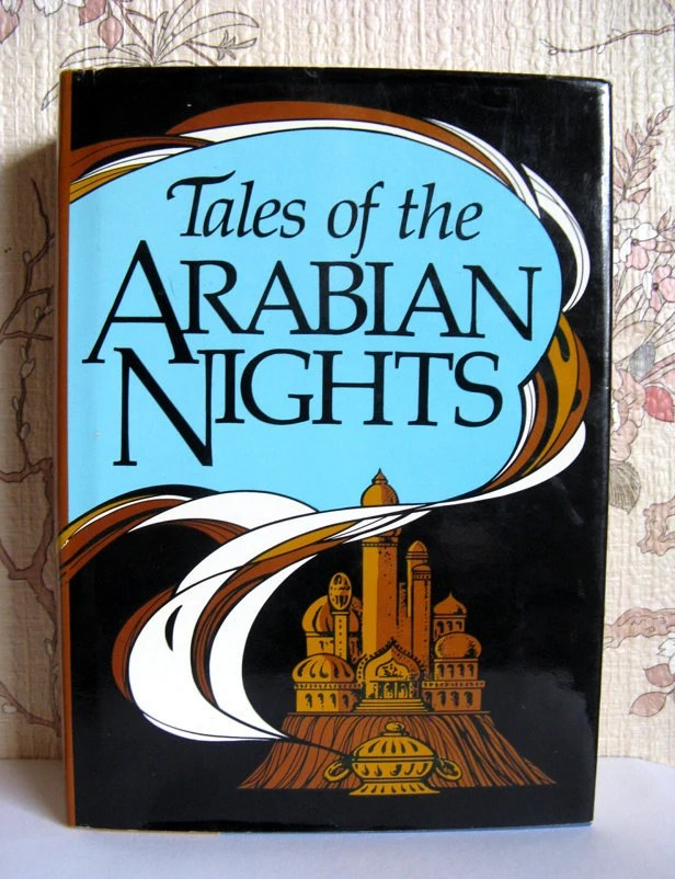 Arabian Nights Hardcover Vintage Illustrated Book 1984