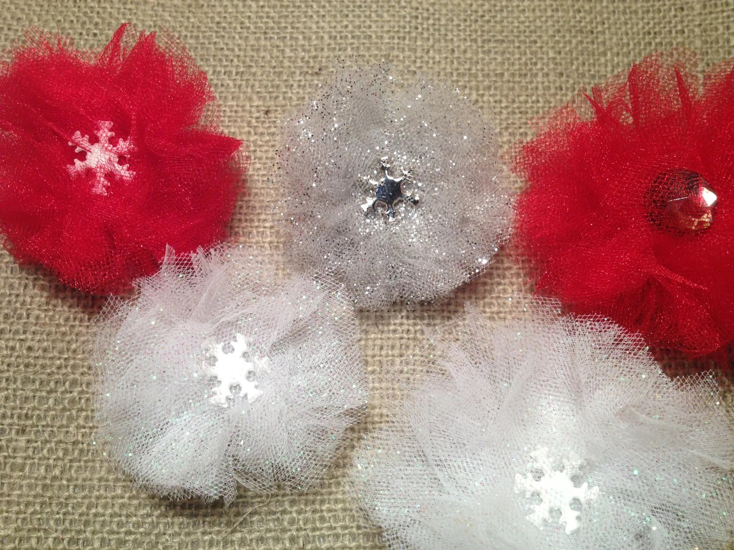 Christmas & Winter Themed Tu Tu Hair Accessories