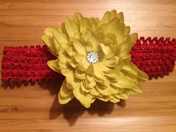 Green & Red Flower Headband