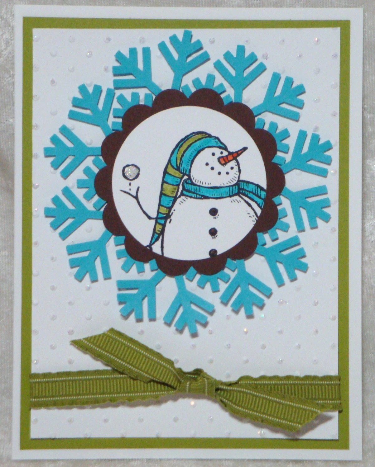 Holiday Christmas Snowman Cards 4pk set