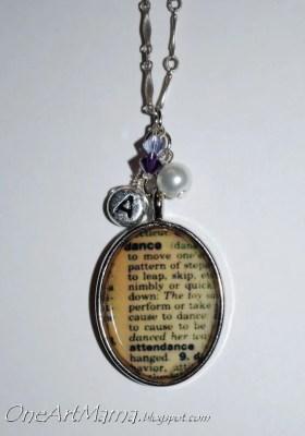 Custom Dictionary Definition Necklace