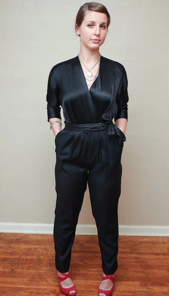 super hot / black / jumpsuit / small / medium