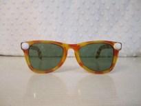 Vintage 1950s Tiger Stripe Tortoise Wayfarer Style Sunglasses