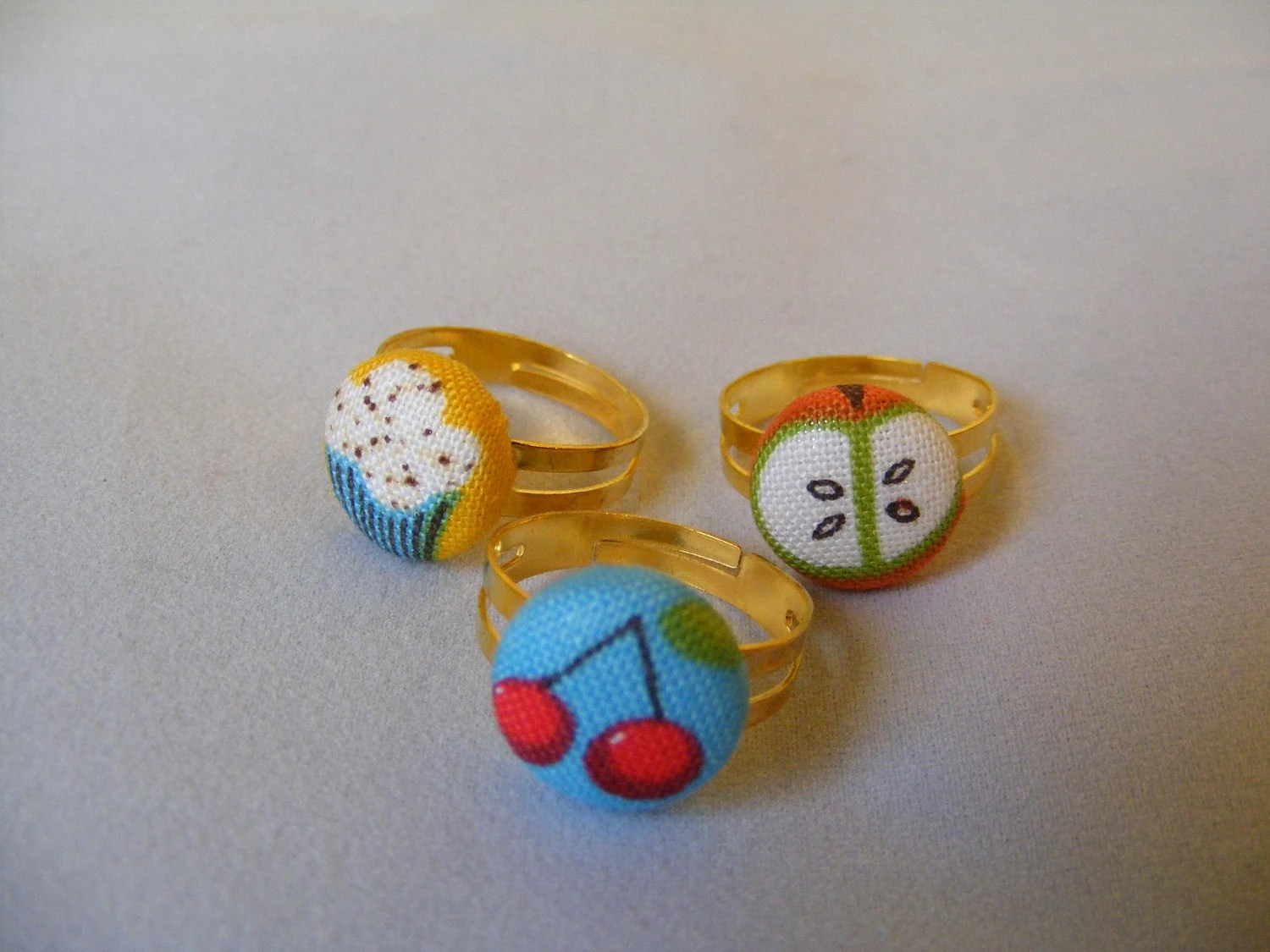 Rings Button (Your choice of design)