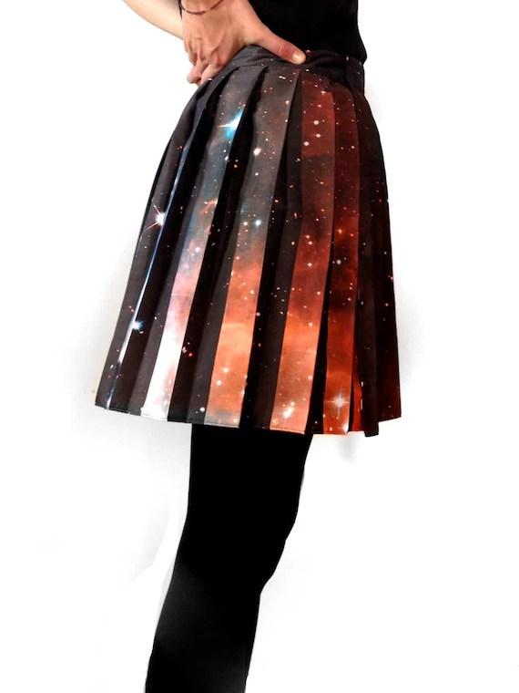 Hubble Deep Field Pleated Galaxy Skirt.