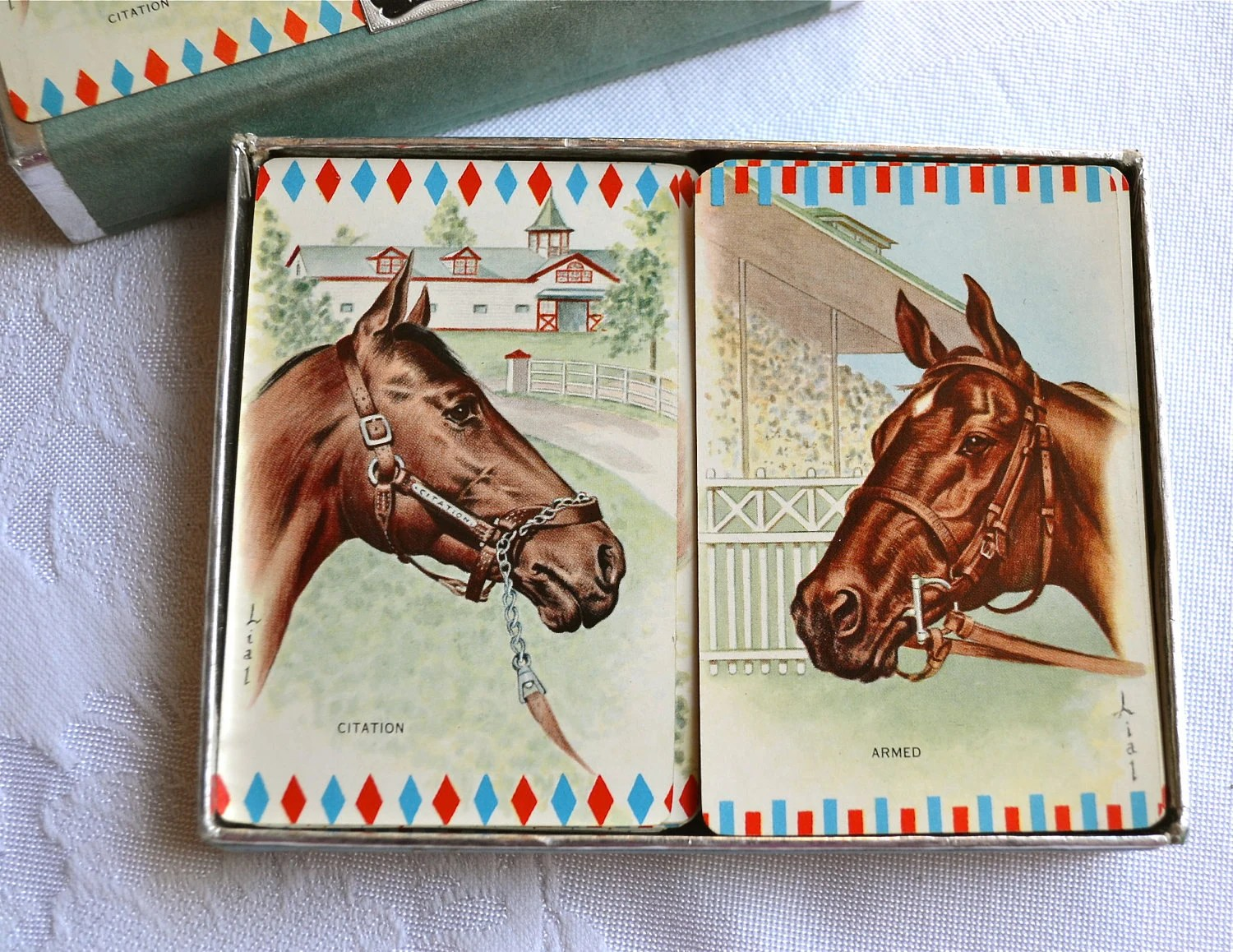 vintage horse playing cards