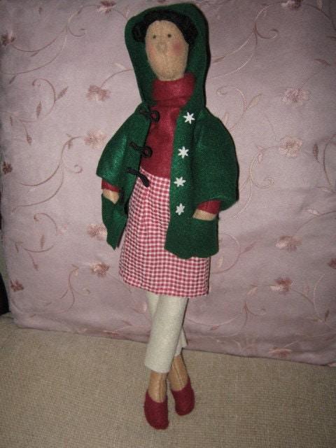 Jemima - A Felt 'Tilda Style' Doll