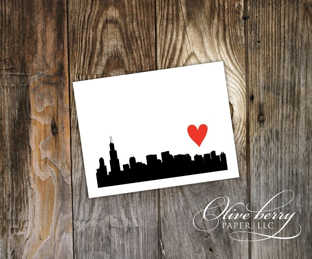 I {heart} Chicago Note Cards