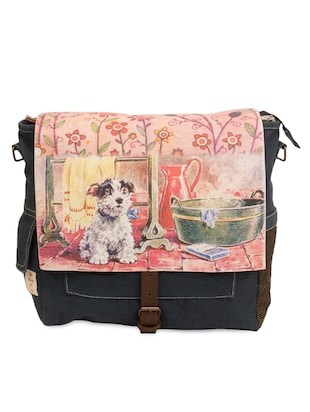 dog printed cotton canvas backpack - Online Shopping for backpacks