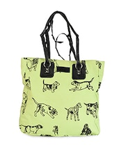 Dog Printed Cotton Canvas Handbag - Online Shopping for handbags