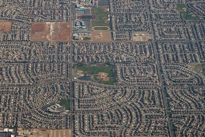 Фотографии Лос Анджелеса из самолета