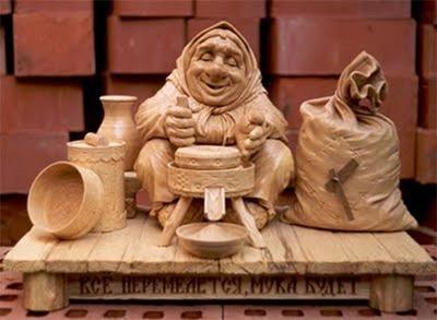 Русское народное творчество. Деревянные скульптуры (фото)