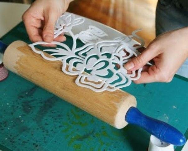 Как нанести принт на ткань с помощью штампа