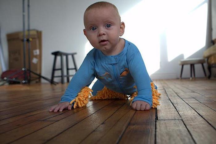 Детский костюмчик швабра изобретен в США. Фотографии