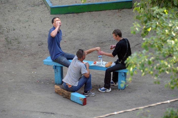 Фотографии из жизни скамейки