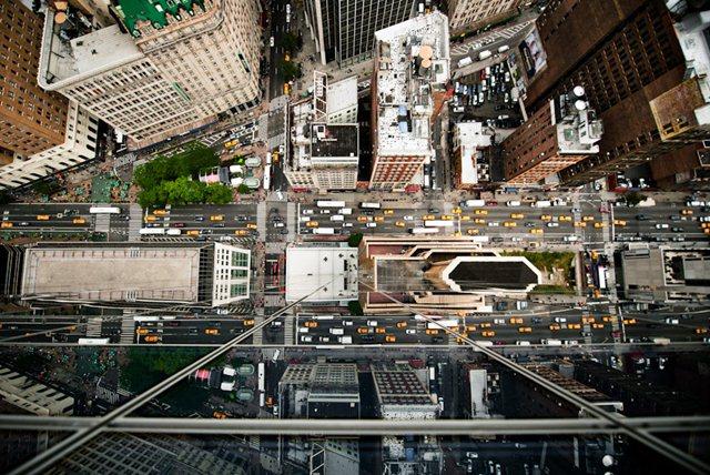 Улицы Нью Йорка сверху