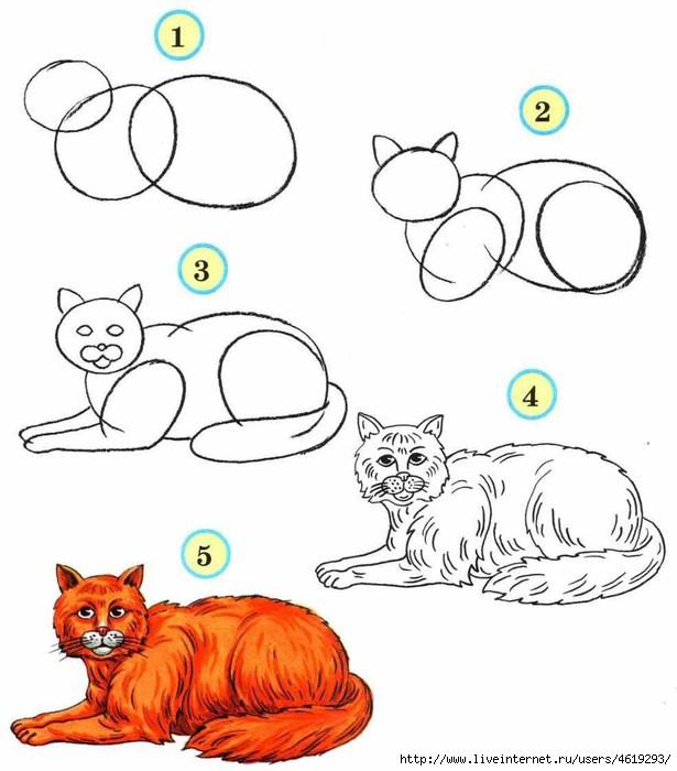Урок рисования по картинкам