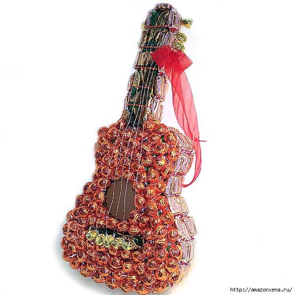 Конфетная гитара. Шаблон сладкого подарка (6) (600x600, 169Kb)