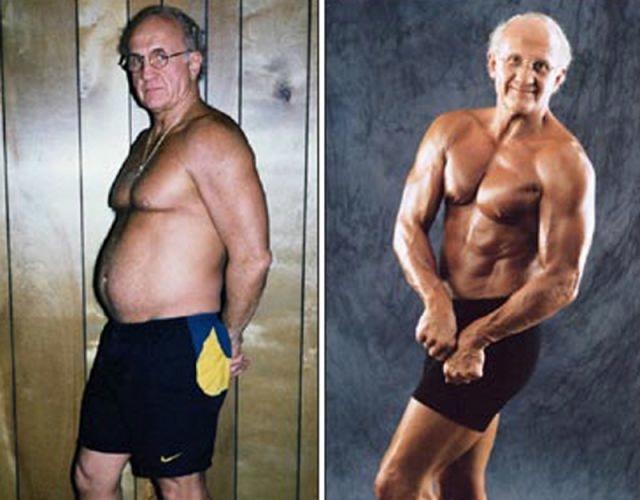 Американец занялся культуризмом в 60 лет. Сейчас ему 74