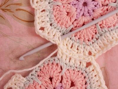 Flower crochet piece AFRICAN FLOWER for knitting toys (32) (400x300, 113Kb)