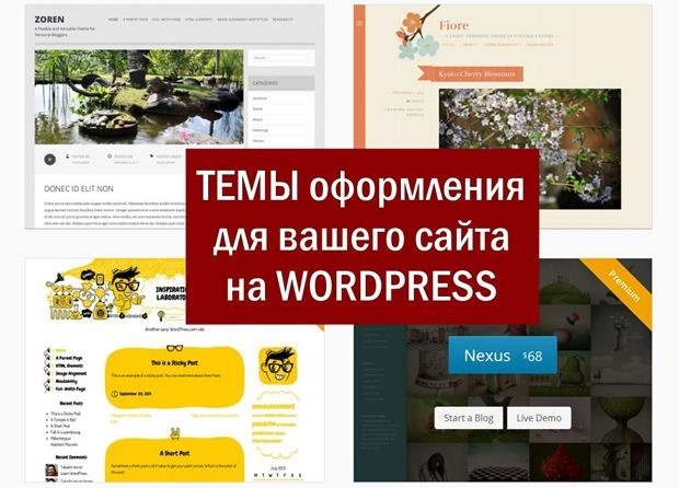 Темы WordPress на вашем сайте. Где взять шаблоны, как установить и настроить
