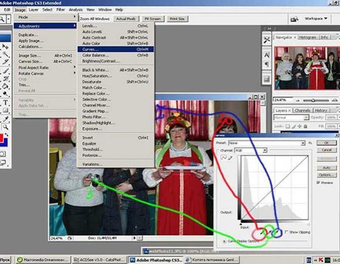 Обработка фотографий для публикации в интернете