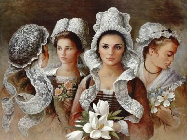 «Придворная» художница Бренда Берк   женский образ в живописи