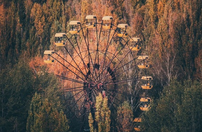 В Припяти заработало чертово колесо