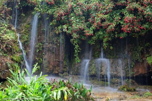 Шум живого водопада в китайском парке