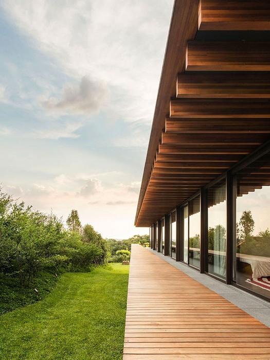 Архитектура и интерьер слоистого дома в Бразилии