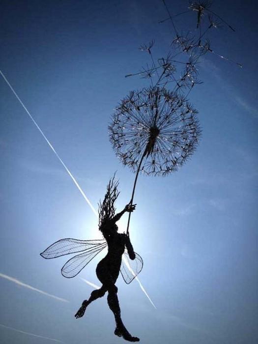 Изящные проволочные скульптуры британца Робина Уайта