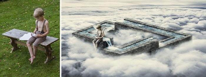 Ретушер превращает обычныефотографии в фантастические миры