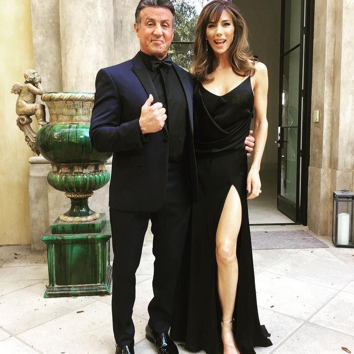 Сильвестр Сталлоне среди «роз»— красивые дочери знаменитого актера