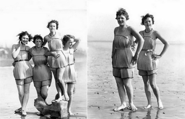 Необычные деревянные купальники в США в конце 1920 х годов