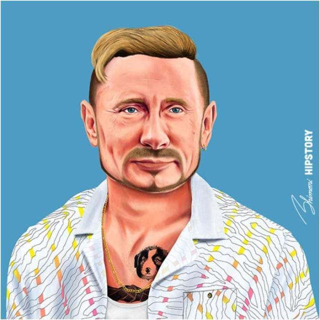 Известные политики в образе хипстеров— 20 скандальных иллюстраций Амита Шимони