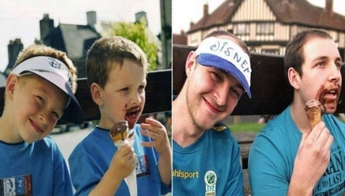 38взрослых, которым удалось такэффектно спародировать свои детские фотографии