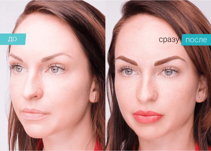 Перманентный макияж: напыление бровей
