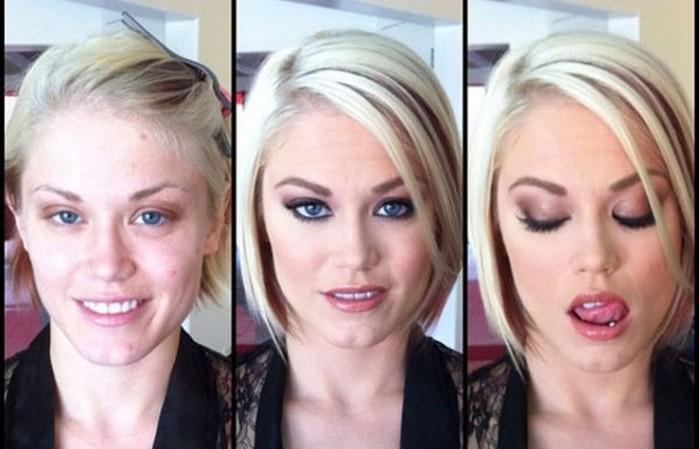 20 неожиданных фотографий звёзд из фильмов для взрослых с макияжем и без