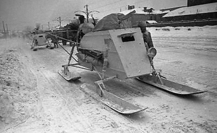 Как в финскую войну Красная Армия использовала аэросани