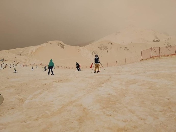 Песчаная буря в Сочи: фотографии