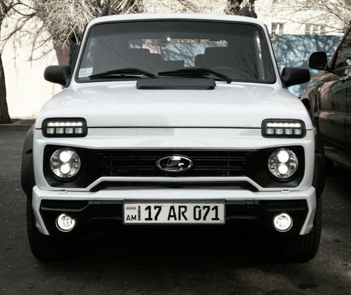 Армянский автолюбитель переделал старую «Ниву» в стильный кроссовер