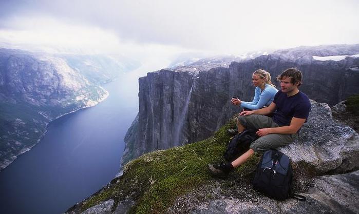 «Стальная тропа» (Via Ferrata): горный аттракцион в Норвегии