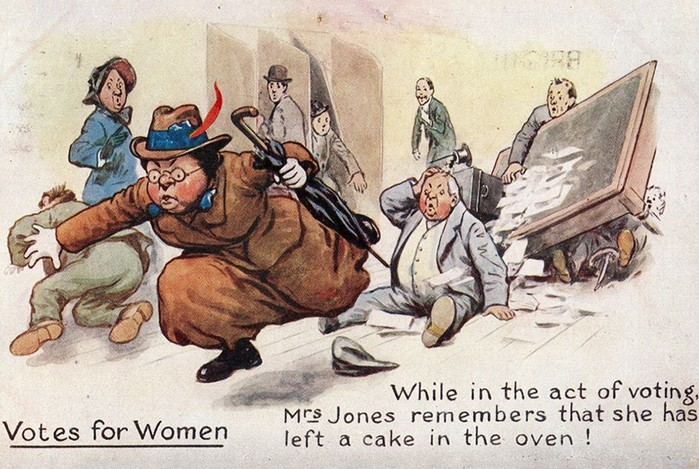 Антисуфражистские открытки: мужчины унижали женщин веками и до сих пор ничего неизменилось