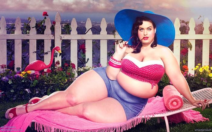 Толстые знаменитости в фотошопе: эксперимент от Давида Лопера