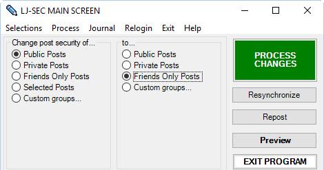 Как удалить все записи в Livejournal